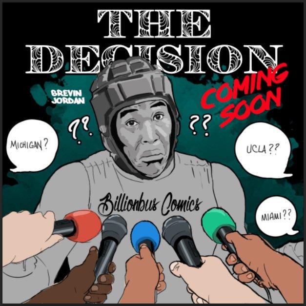 2018 TE Brevin Jordan decision edit (art by Brandon Whitaker)