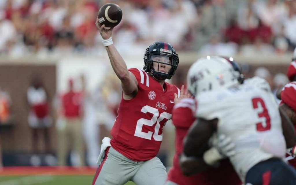 Shea Patterson. Photo Credit: Bobby McDuffie/The Sun Herald